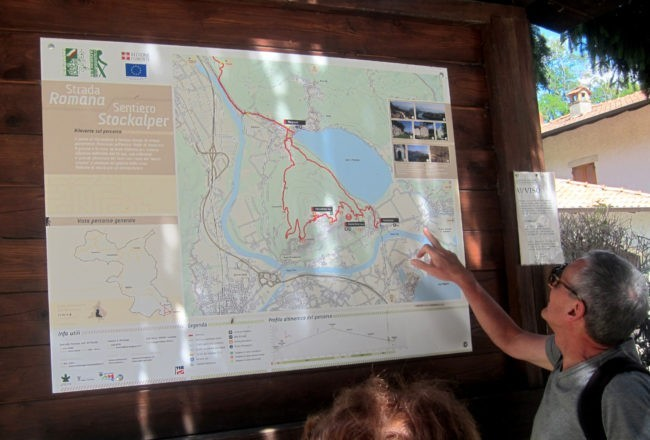 mappa lago mergozzo