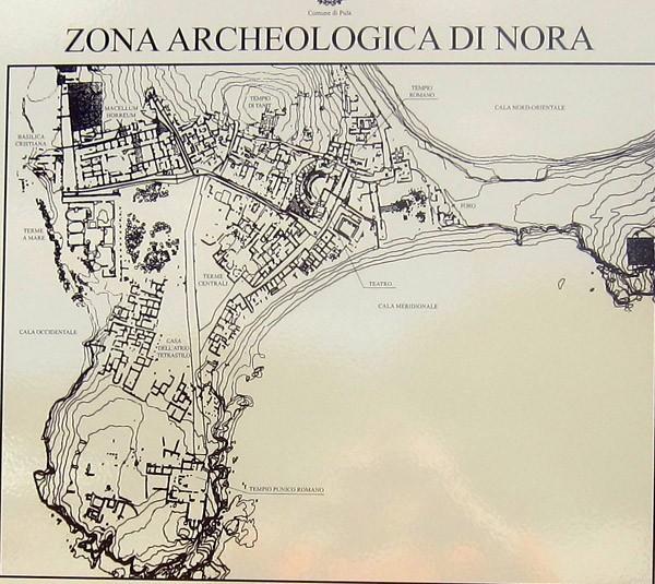 nora mappa archeologica