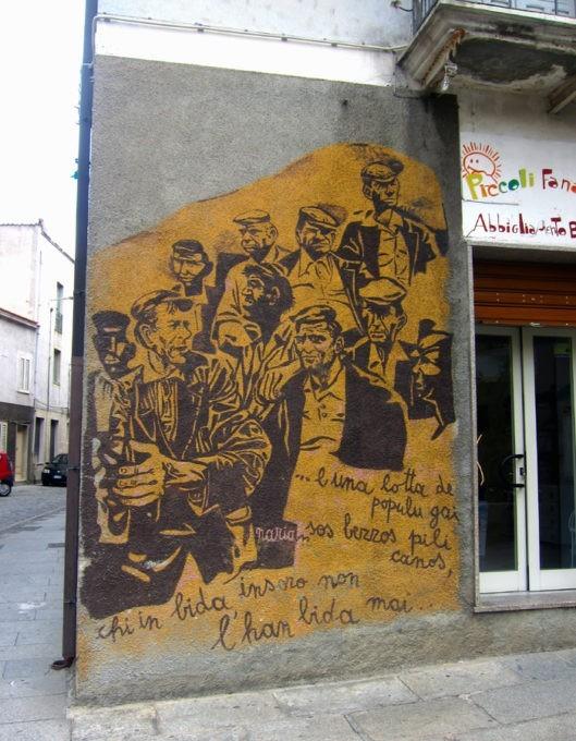 murales sulle lotte contadine a orgosolo
