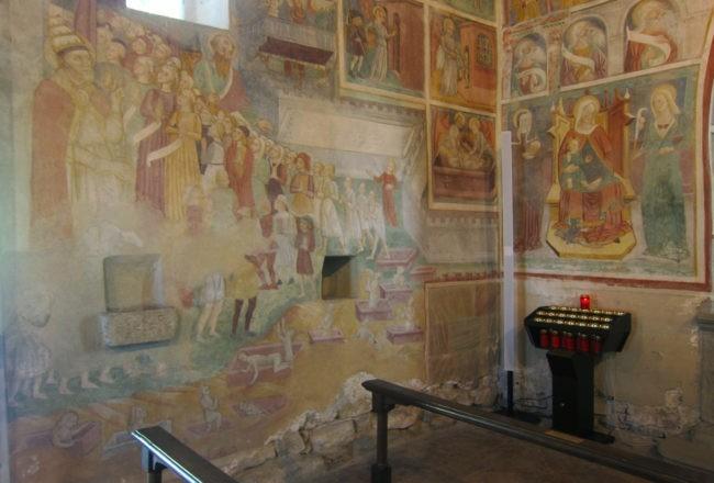 affaffreschi chiesa di san giorgio sentiero del viandante