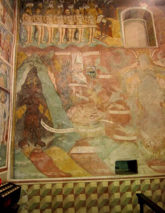 affreschi chiesa di san giorgio sentiero del viandante