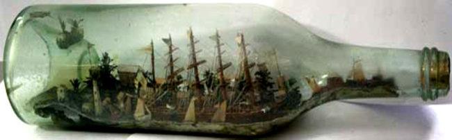 nave in bottiglia camogli