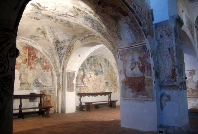 san pietro in lamosa affreschi
