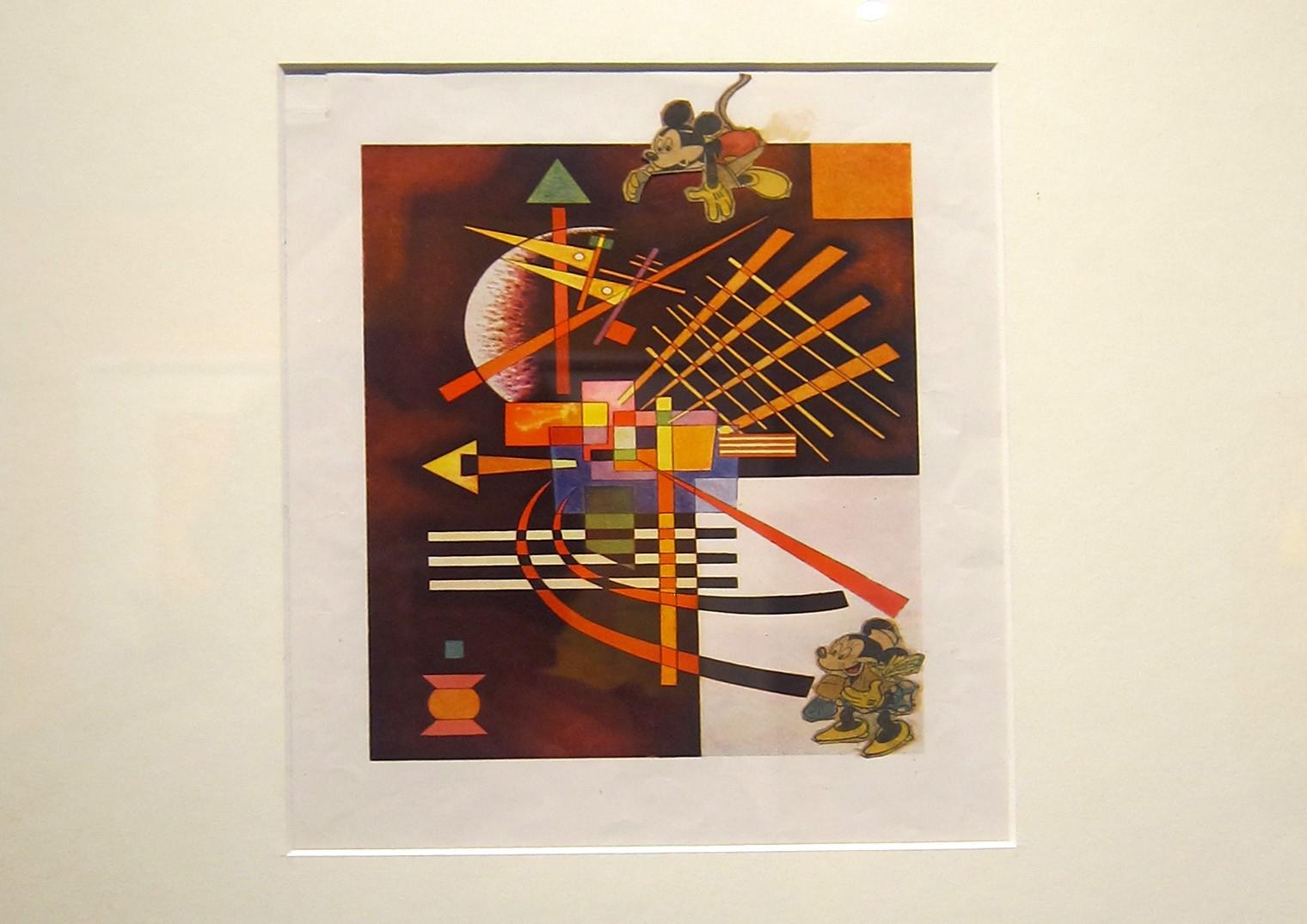 Collage di Fischinger su riproduzione di Kandinsky