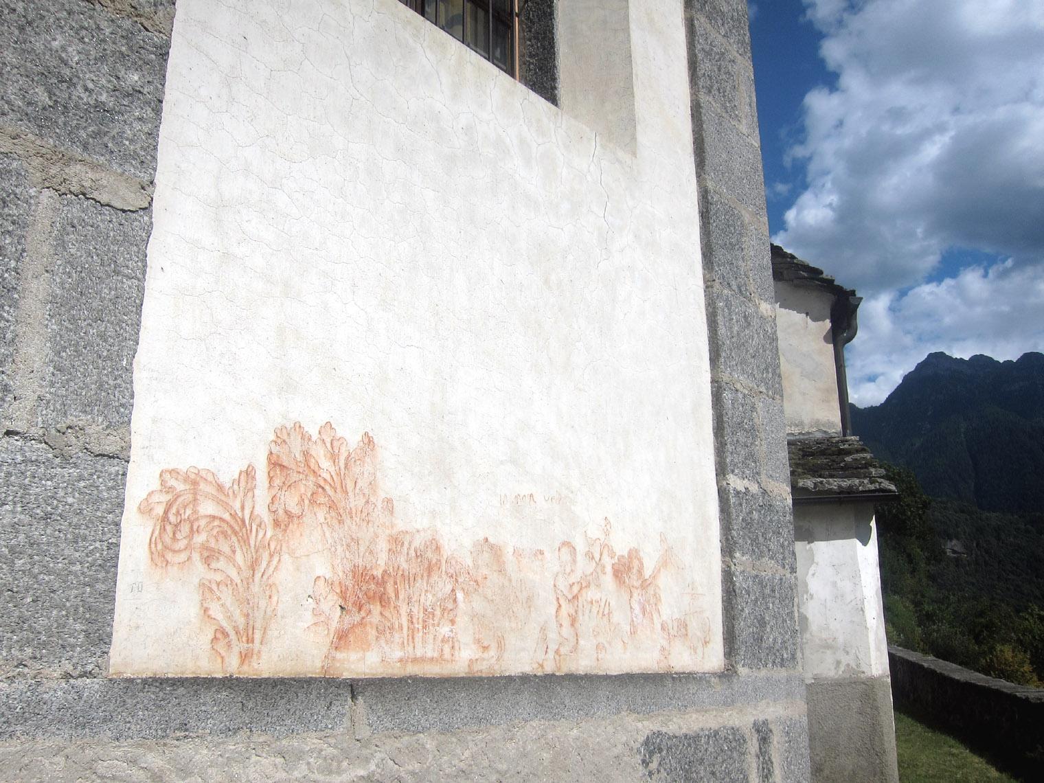 graffiti esterni chiesa di Baceno