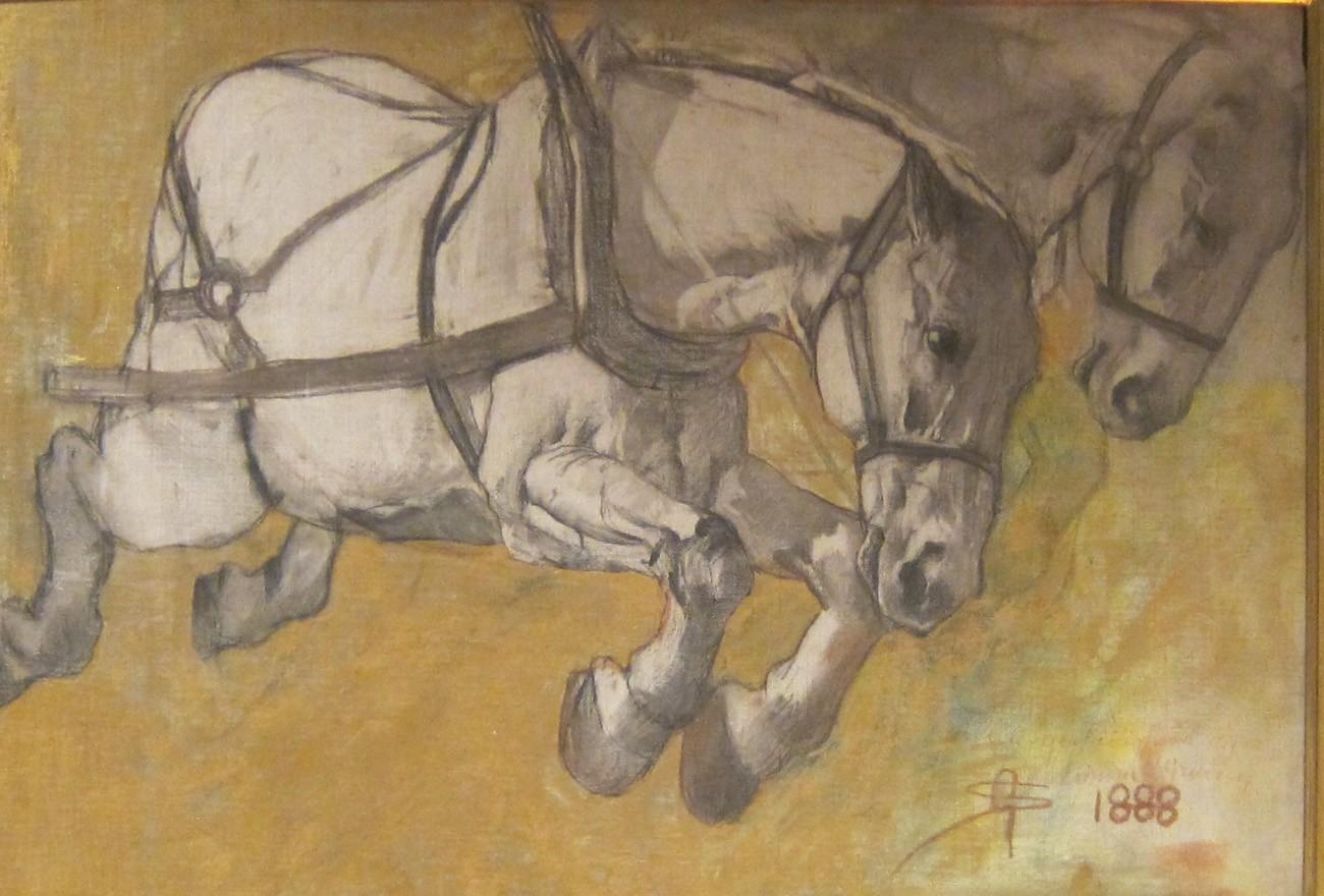 segantini cavalli al galoppo