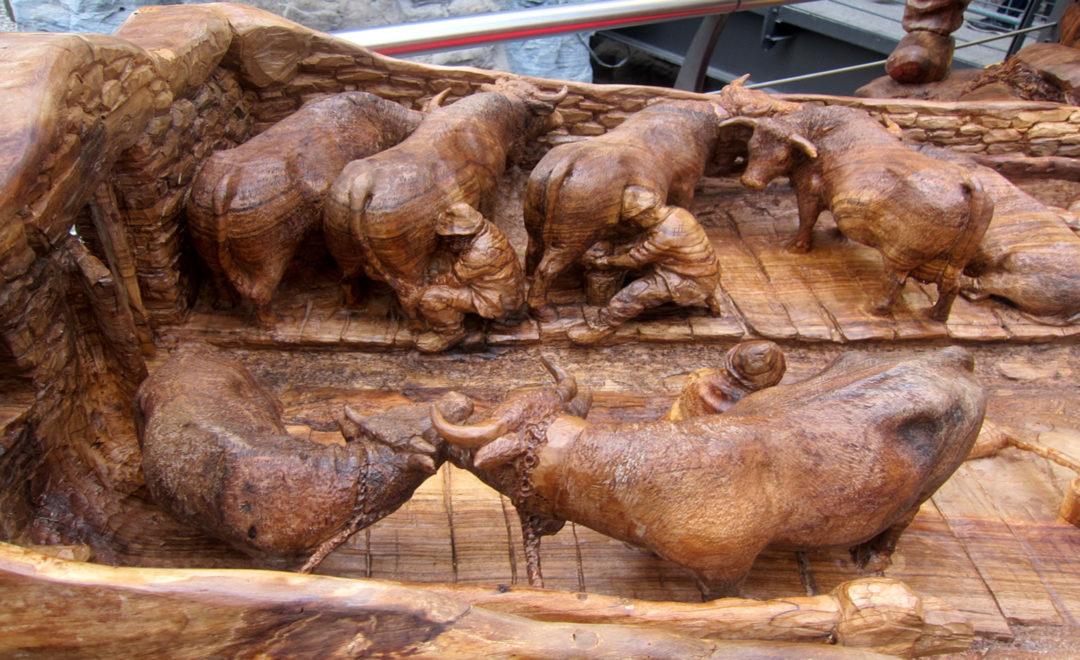 scultura alla fiera di sant'orso