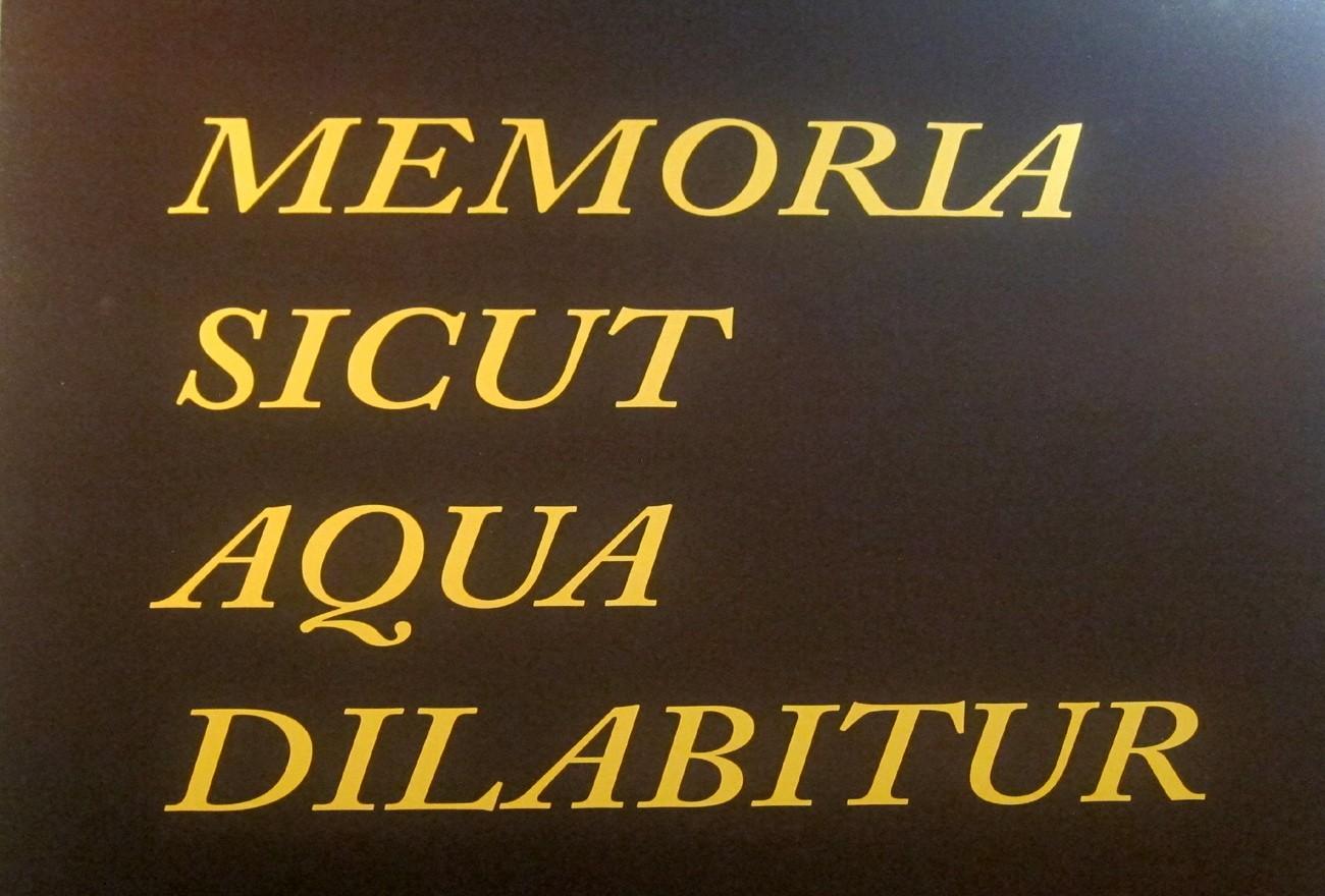 memoria-sicur-aqua-dilabitur