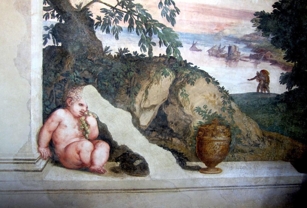 villa vescovi affreschi