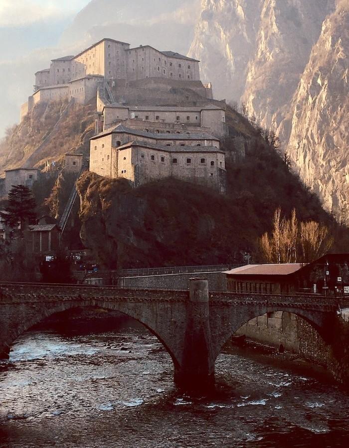 forte di Bard dal ponte sulla Dora